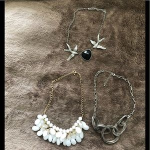 Three necklaces. Not broken.